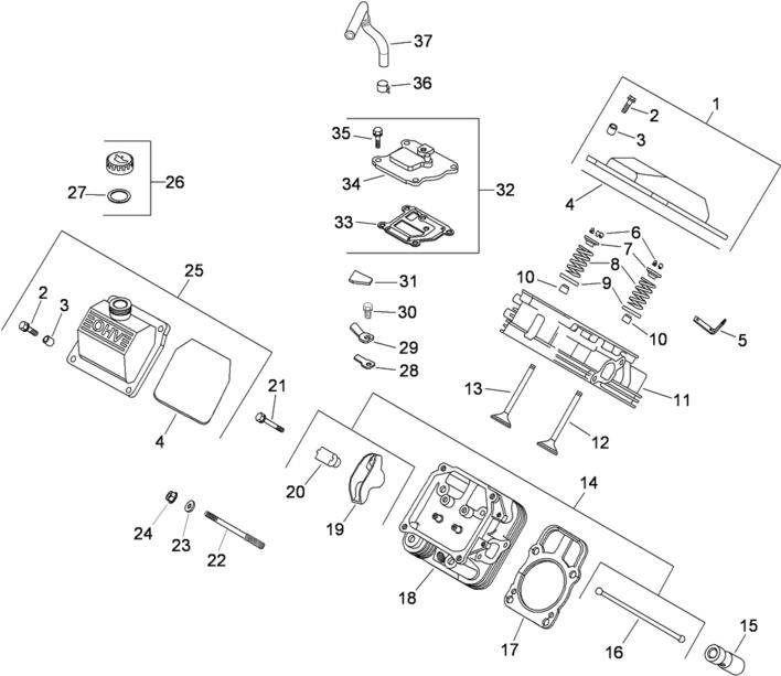 Kohler engine head and valve parts small engine parts lookup dealers online motor kohler ch23s wiring diagram at n-0.co