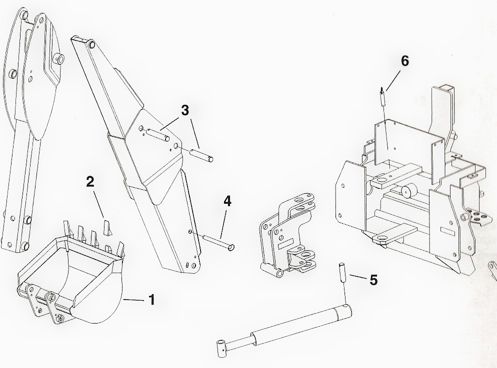 Toro Dingo Backhoe Attachment Model 23163 Parts