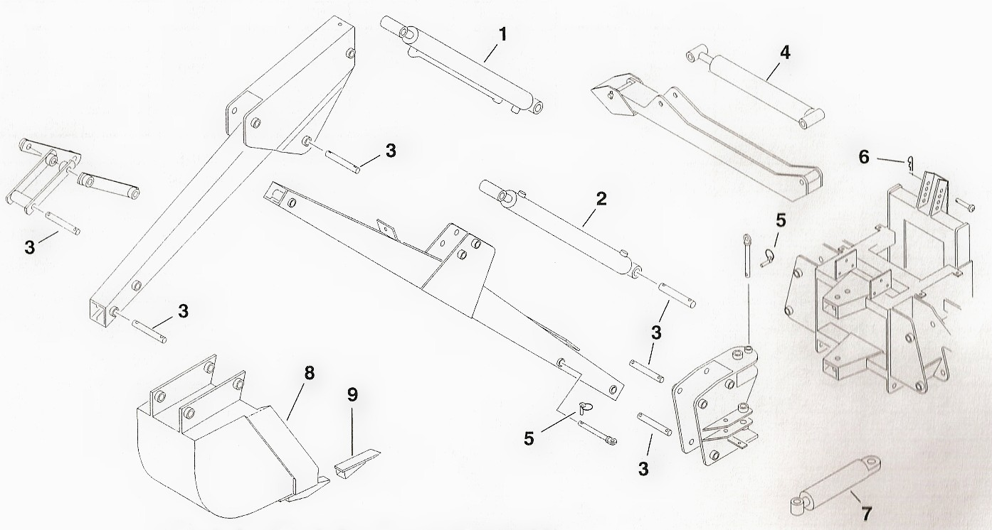 Toro Dingo Backhoe Attachment Parts