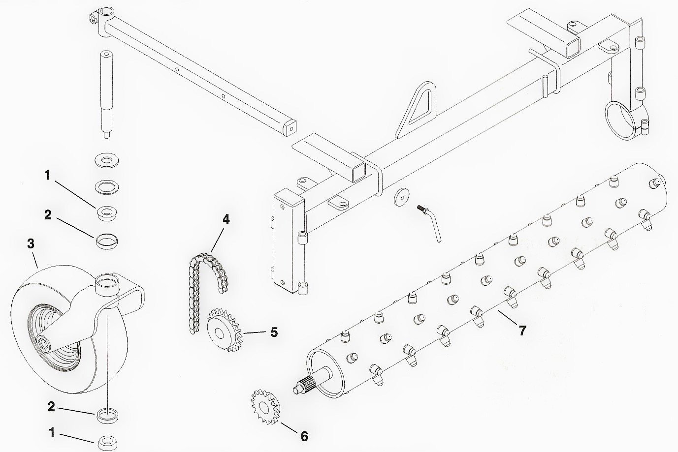 toro dingo harley rake attachment parts diagram