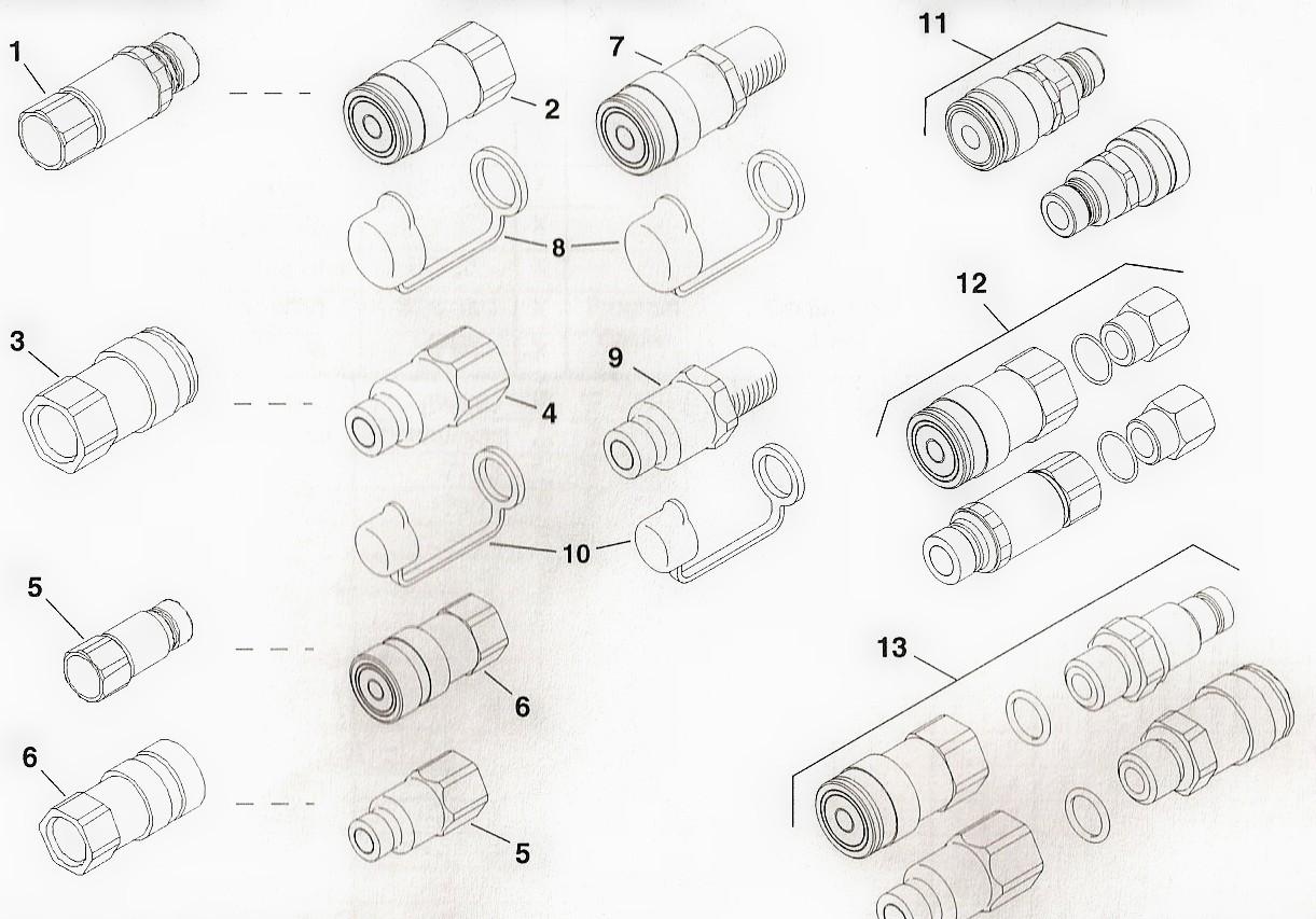 Toro Dingo Hydraulic Connector Parts on Toro Dingo Parts Diagram