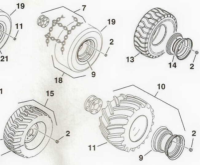 Toro Dingo Tires and Related Parts 2