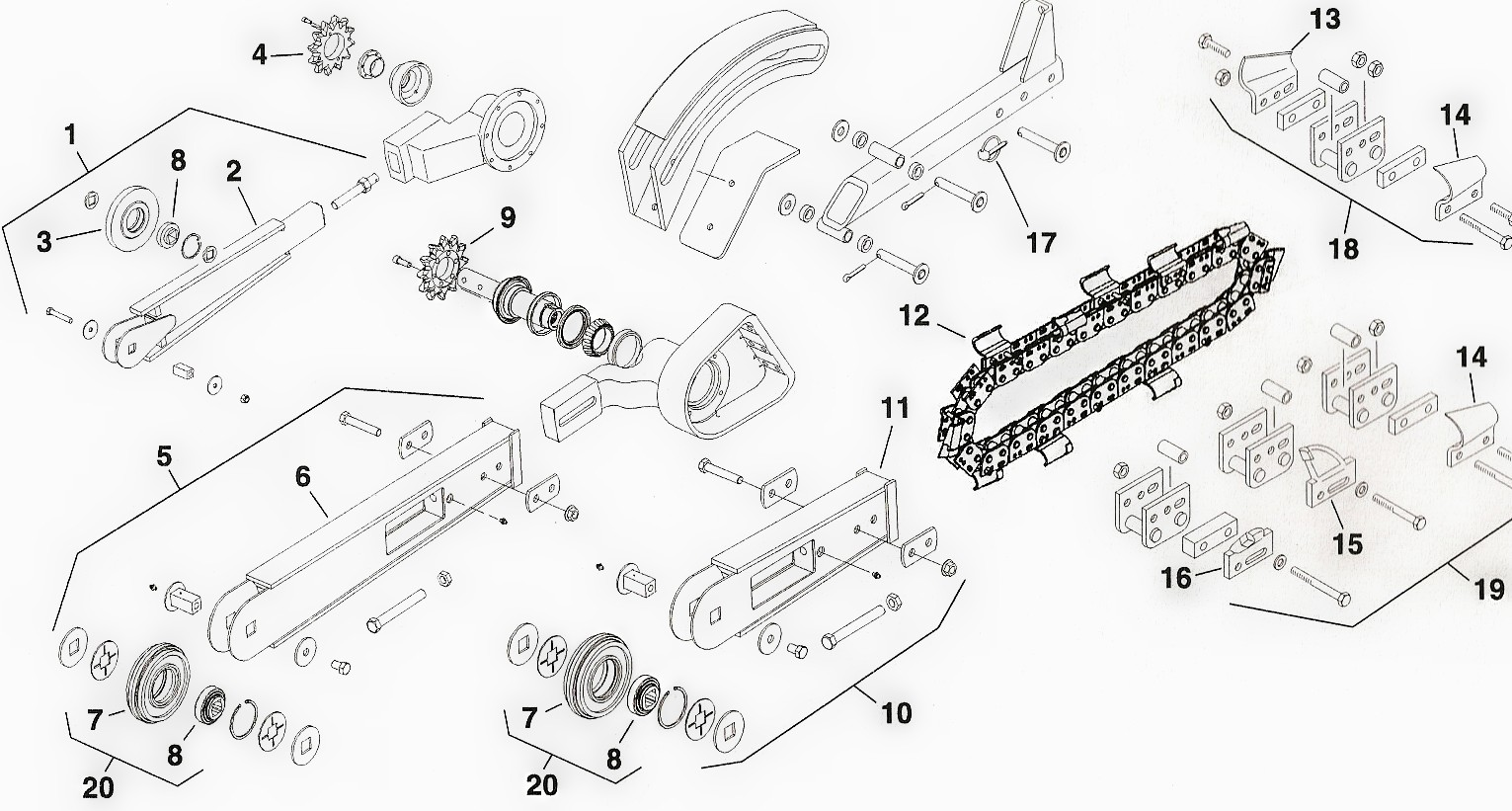 Toro Dingo Trencher Parts Diagram