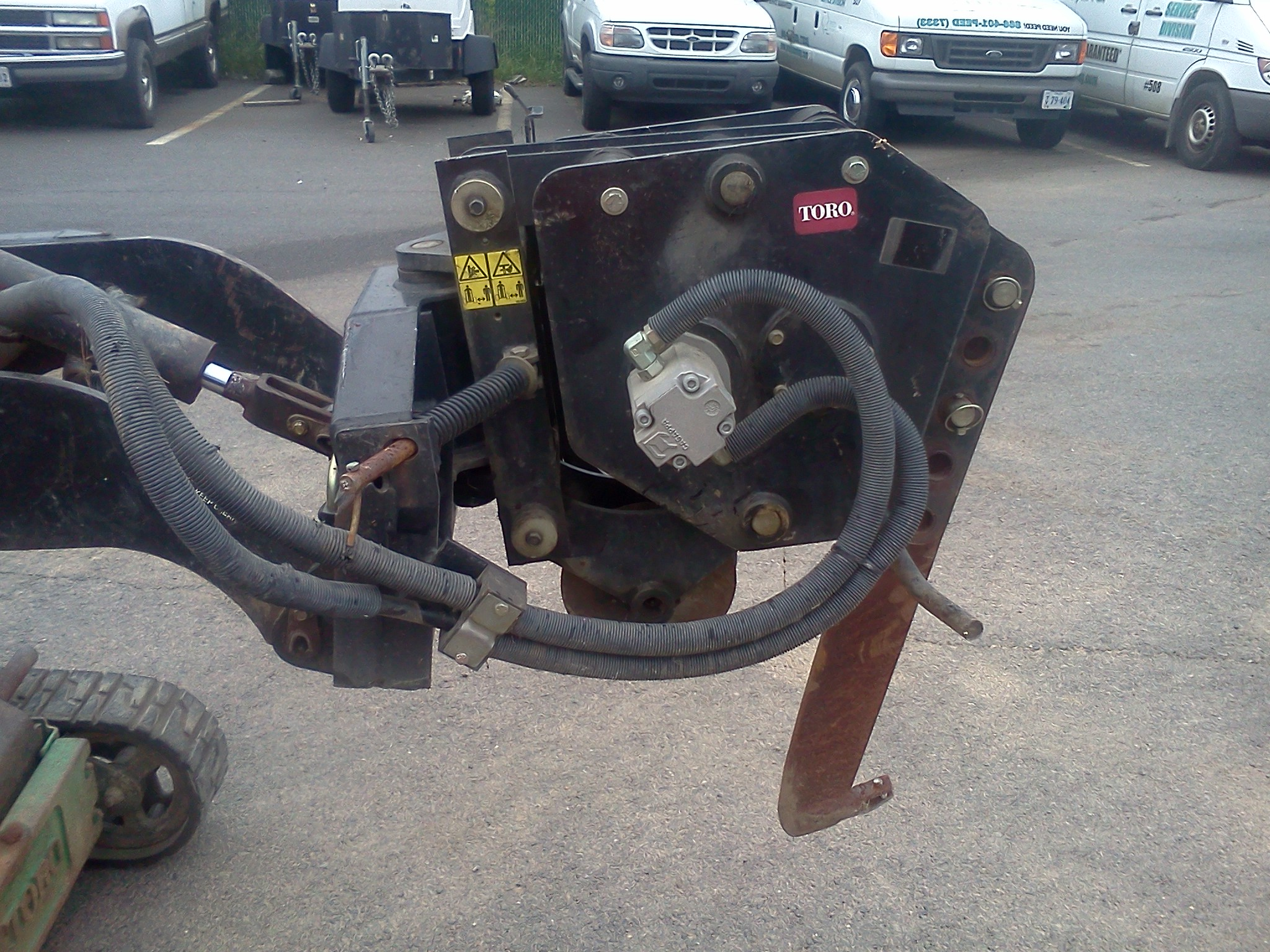 Used Toro Dingo Vibratory Plow Attachment 1