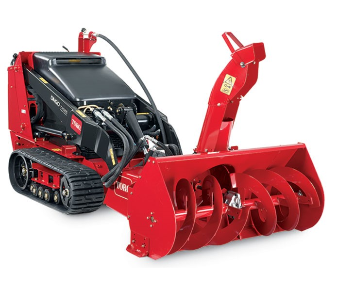 toro dingo showblower and hydraulic broom attachment parts lookup page